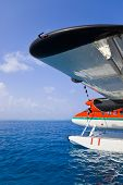 stock photo of hydroplanes  - Sea plane at Maldives  - JPG