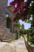 Street at Omis, Croatia - architecture background