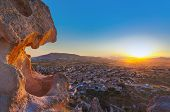 pic of goreme  - Sunset in Cappadocia Turkey  - JPG
