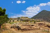 Town Mycenae ruins, Greece - archaeology background