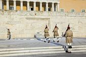 Changing guards near parliament at Athens, Greece