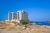 image of poseidon  - Poseidon Temple at Cape Sounion near Athens - JPG