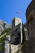 Old fort in Omis, Croatia - abstact travel background