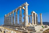 foto of poseidon  - Poseidon Temple at Cape Sounion near Athens - JPG