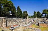 Old ruins in Salona, Croatia - archaeology background