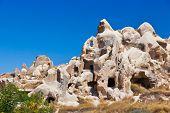 Goreme cave city in Cappadocia Turkey - nature background