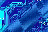Macro of computer board - abstract technology background