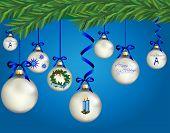 Christmas-Blue & Silver Ornaments