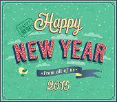 New Year Typographic Design.