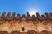 Old amphitheater Aspendos in Antalya, Turkey - archaeology background