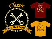 Vector Fix and Repair T-Shirt Template Design
