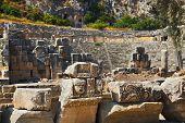 Ancient amphitheater in Myra, Turkey - archeology background
