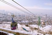 Funicular With The View Of  Almaty, Kazakhstan