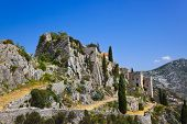Old fort in Klis, Croatia - architecture background
