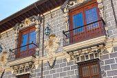 Retro architecture at Granada Spain - travel background