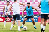 Sisaket Thailand-october 15: Suree Sukha Of Buriram Utd. In Action During A Training Ahead Thai Prem