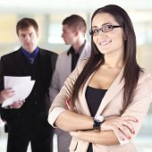 Young business woman in the working environment