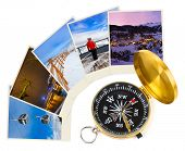 Mountains ski Austria images and compass (my photos) - nature and sport background