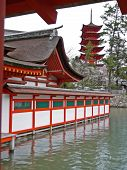 Itsukushima Shrine And Pagoda