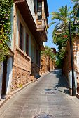 Old street in Antalya, Turkey -  architecture background