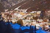Mountains ski resort Bad Gastein - nature and architecture background
