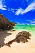 Tropical beach - vacation nature background