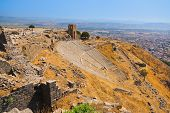 Ruins in ancient city of Pergamon - Turkey