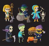 Costumes and haloween characters
