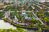 Novodevichiy monastery in Moscow, Russia - aerial view