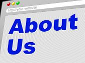 About Us Indicates World Wide Web And About-us