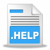 Help File Means Paperwork Correspondence And Document
