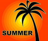 Summer Time Indicates Season Positive And Warmth