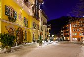 Mountains ski resort Bad Hofgastein Austria - architecture background