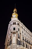 Madrid Spain at night - architecture background