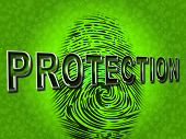 Protection Fingerprint Indicates Password Login And Private