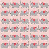 Cartoon Elephants Background