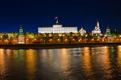 Kremlin in Moscow (Russia) at night