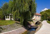 River and bridge in Split, Croatia - travel background