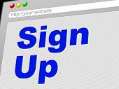 Sign Up Shows Subscribe Register And Online