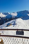 Viewpoint at mountains ski resort Bad Gastein Austria - nature and sport background