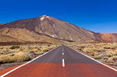Road to volcano Teide at Tenerife island - Canary Spain