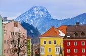 Town Kufstein in Austria - architecture and travel background