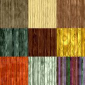Set Of Wood Fence Seamless Generated Textures