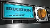 Education on Display of Vending Machine.