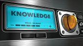 Knowledge on Display of Vending Machine.