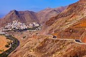 Road to beach Teresitas in Tenerife - Canary Islands Spain