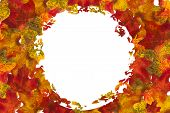 Autumn Leaf Circle Background