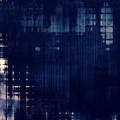 Antique vintage textured background. With blue patterns