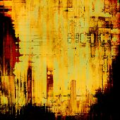 Aged grunge texture. With yellow, brown, red, orange patterns