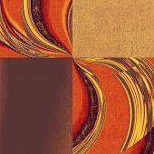 Vintage texture background. With yellow, brown, orange, purple patterns